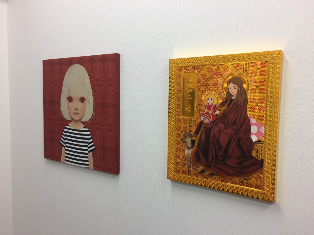 Painting by Kohei Yamada and artwork by Hiroshi Mori. (from left to right)